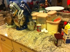 Red Velvet Cake + Coconut Cream Cheese Frosting