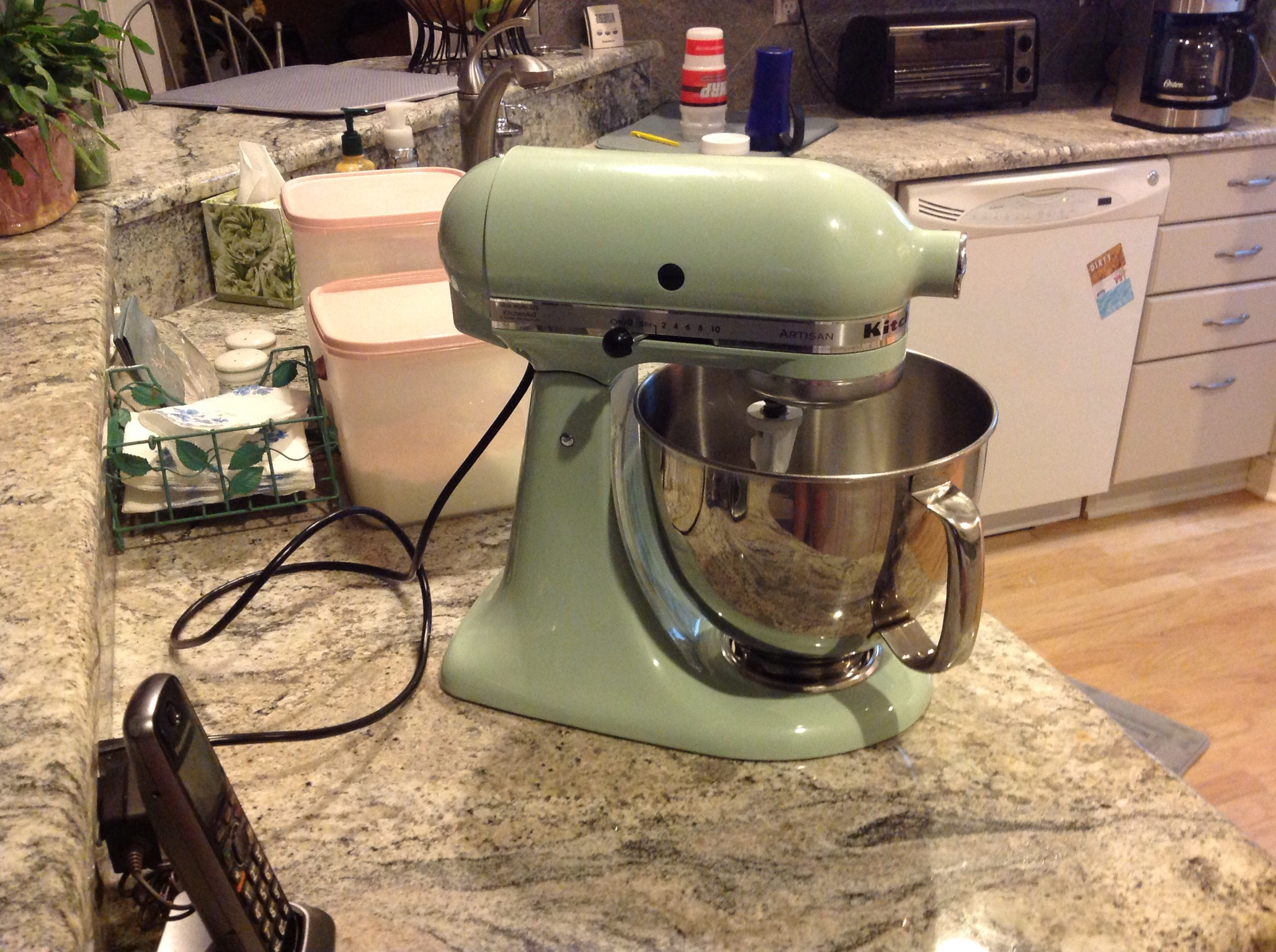 I Havenu0027t Used U201cStach,u201d The Pistachio Colored KitchenAid Mixer, In A While  So Tonight Just Seemed Right. Baking Is Sort Of Therapeutic For Me.