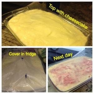 4th of july red velvet pudding