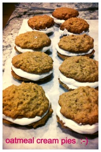 Oatmeal Cream cookies finished