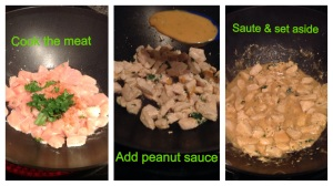 Thai chicken cooking