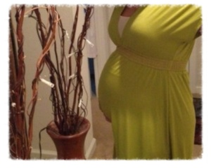 Pregnancy-belly-green