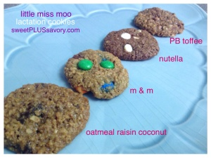 Lactation-cookies-types-Nutella-peanut-butter-toffee