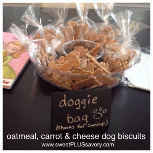 Dog-birthday-party-biscuits-cheese-carrots-oats