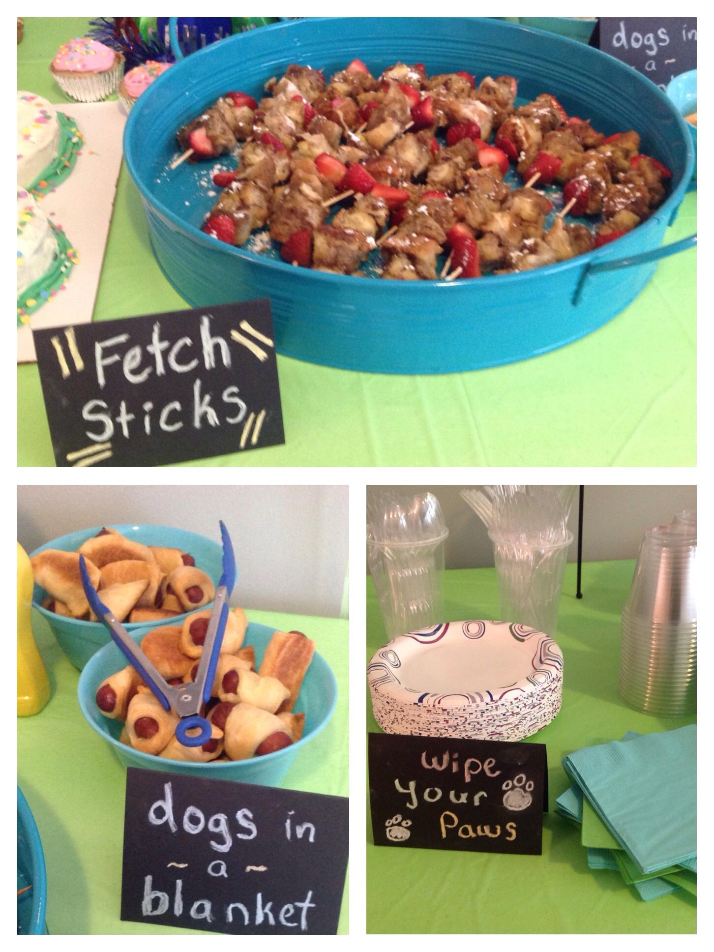 Dog Birthday Party Theme Fetch Sticks Ideas